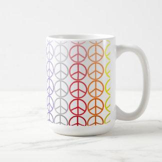 Rainbow Peace Signs Mug