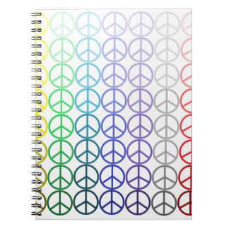 Rainbow Peace Signs Notebook