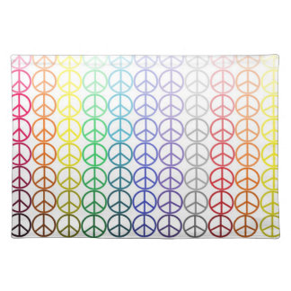Rainbow Peace Signs Placemat