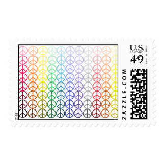 Rainbow Peace Signs Postage Stamps