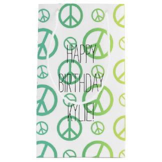 Rainbow Peace Signs Small Gift Bag