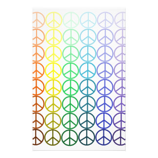 Rainbow Peace Signs Stationery