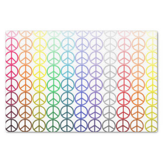 """Rainbow Peace Signs Tissue Paper 10"""" X 15"""" Tissue Paper"""
