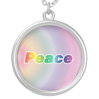 Rainbow Peace Silver Plated Necklace