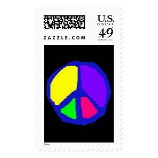 Rainbow Peace stamp