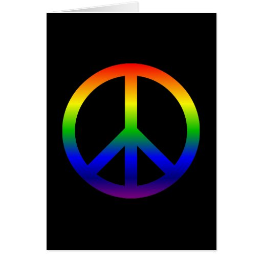 Rainbow Peace Symbol Card