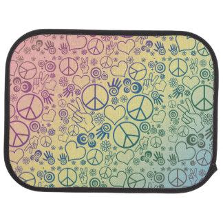 Rainbow Peace Symbol Design Pattern Car Floor Mat