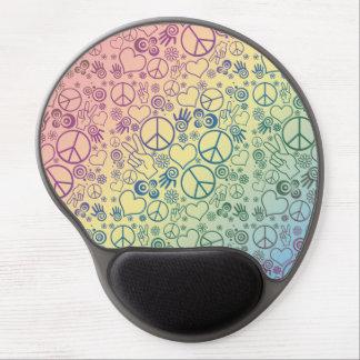 Rainbow Peace Symbol Design Pattern Gel Mouse Pad