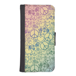 Rainbow Peace Symbol Design Pattern iPhone SE/5/5s Wallet Case