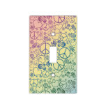 Rainbow Peace Symbol Design Pattern Light Switch Cover