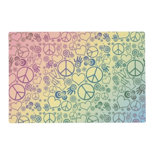 Rainbow Peace Symbol Design Pattern Placemat at Zazzle