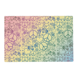 Rainbow Peace Symbol Design Pattern Placemat