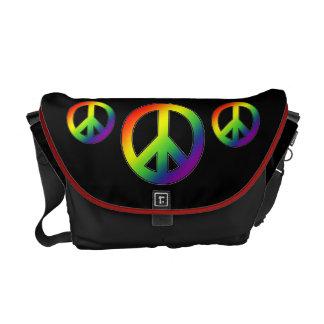 Rainbow Peace Symbol Messenger Bag