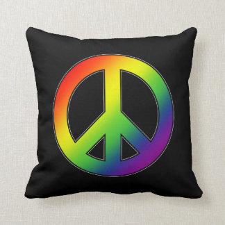 Rainbow Peace Symbol Pillow
