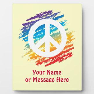 Rainbow Peace Symbol Plaque