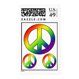 Rainbow Peace Symbol Postage
