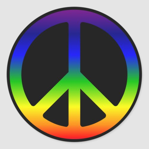 Rainbow Peace Symbol Stickers sticker