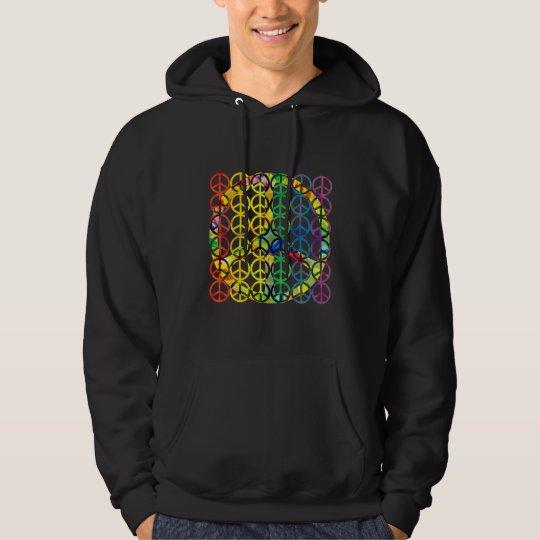 Rainbow Peace Symbols Dark Hoodies