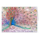 Rainbow Peacock Birthday Card