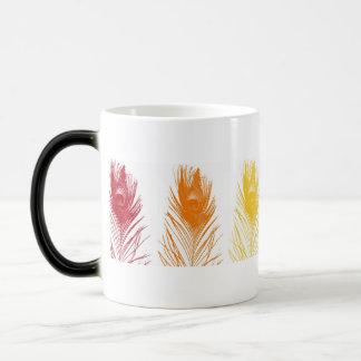 Rainbow Peacock Feather Magic Mug