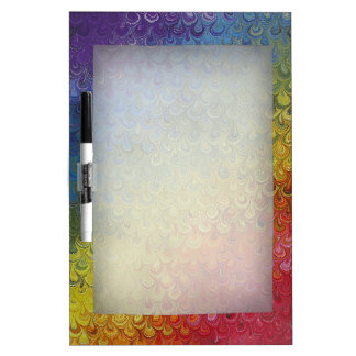 Rainbow Peacock Marble Dry Erase Whiteboards