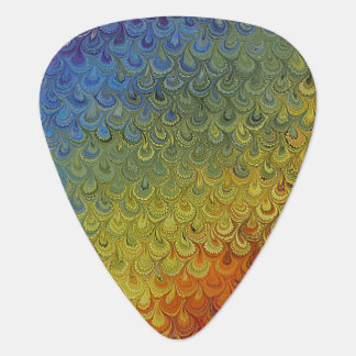 Rainbow Peacock Marble Guitar Pick