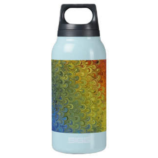 Rainbow Peacock Marble Insulated Water Bottle