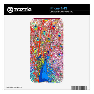 Rainbow Peacock Zazzle Skin Decal For The iPhone 4