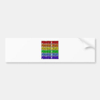 Rainbow Pediatric Nurse Bumper Stickers