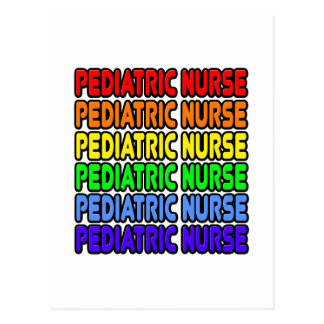 Rainbow Pediatric Nurse Postcard