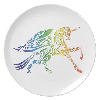 Rainbow Pegasus Merchandise Melamine Plate