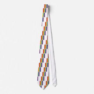 Rainbow pencils neck tie