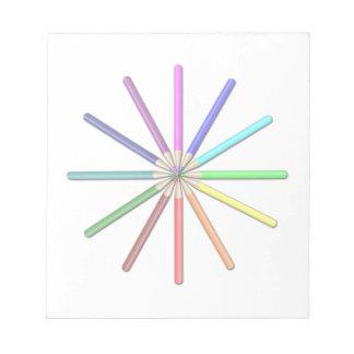 rainbow pencils memo note pads