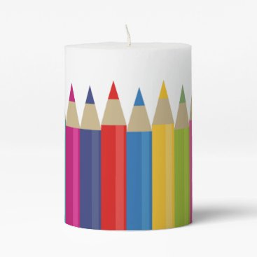 Professional Business Rainbow Pencils Pillar Candle