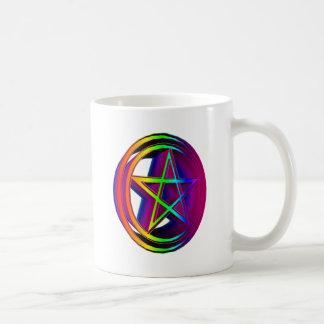 Rainbow Pentacle #5 Coffee Mug