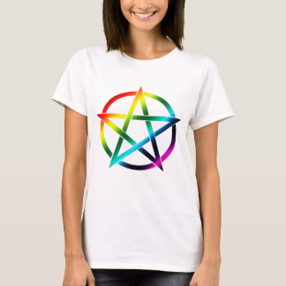 Rainbow Pentacle for Light Shirts