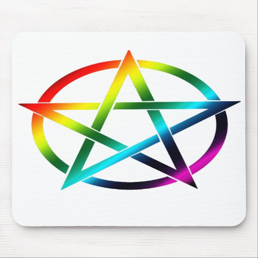 Rainbow Pentacle Mousepad
