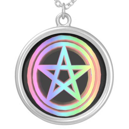 Rainbow Pentacle Pendant