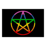 Rainbow Pentacle Posters