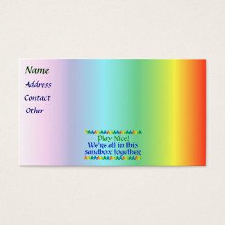 Rainbow People Business Card