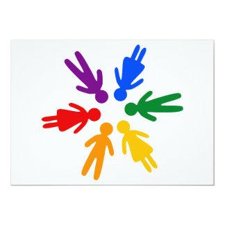 Rainbow People Circle Card