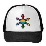 Rainbow People Circle Mesh Hat