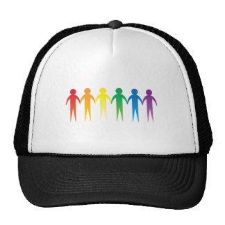 Rainbow People Mesh Hats