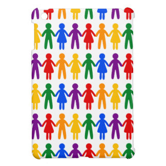 Rainbow People Pattern Cover For The iPad Mini