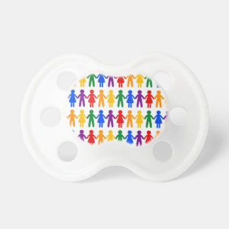 Rainbow People Pattern Pacifier