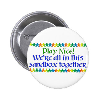 Rainbow People Pinback Button
