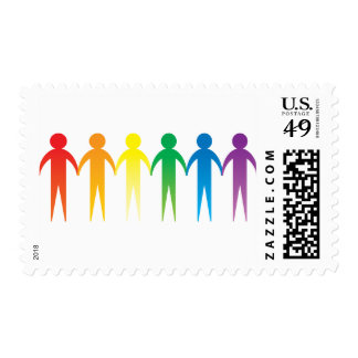 Rainbow People Stamps