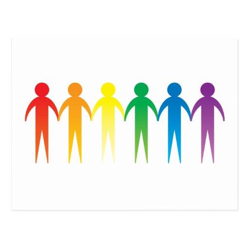 Rainbow People Postcard