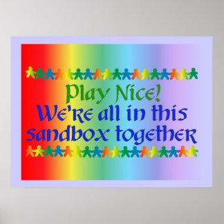 Rainbow People Poster