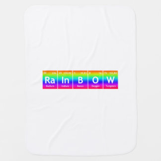 RaInBOW Periodic Table Elements Word Symbols Color Stroller Blanket